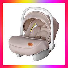 Дитяче автокрісло для немовлят (автолюлька) група 0+ (0-13 кг) Carrello Mini CRL-11801 Stone Brown. Беж