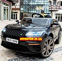 Детский электромобиль на аккумуляторе с пультом РУ Land Rover Лэнд Ровер Т 7834 черный