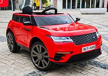 Детский электромобиль на аккумуляторе с пультом РУ Land Rover Лэнд Ровер Т 7834 красный