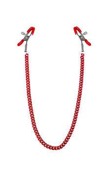 Зажимы для сосков с цепочкой Feral Feelings - Nipple clamps Classic, красный Bomba💣
