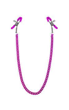 Зажимы для сосков с цепочкой Feral Feelings - Nipple clamps Classic, розовый Bomba💣