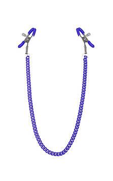 Зажимы для сосков с цепочкой Feral Feelings - Nipple clamps Classic, фиолетовый Bomba💣