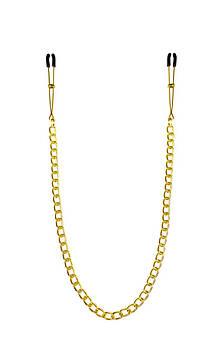 Тонкие зажимы для сосков с цепочкой Feral Feelings - Chain Thin nipple clamps, золото/черный Bomba💣