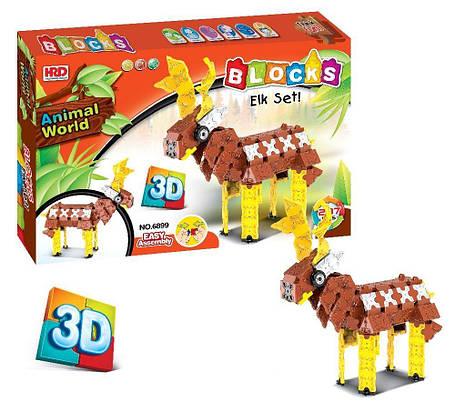 3D-конструктор Animal World - Олень , 287 деталей, фото 2