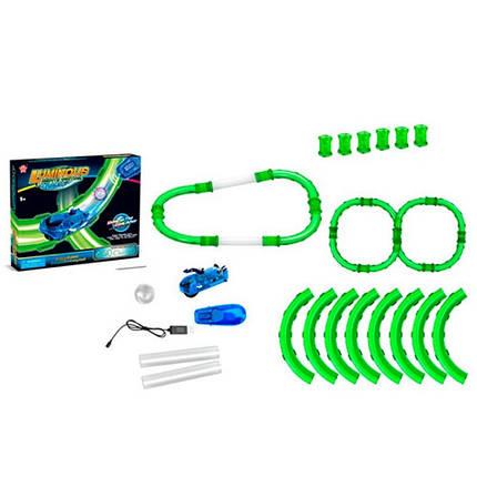 Игровой Трек трубчатый свет машина на управлении для мальчика р/у, аккум, фото 2