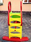 Горка пластиковая детская Mochtoys 180 см зеленая, фото 2