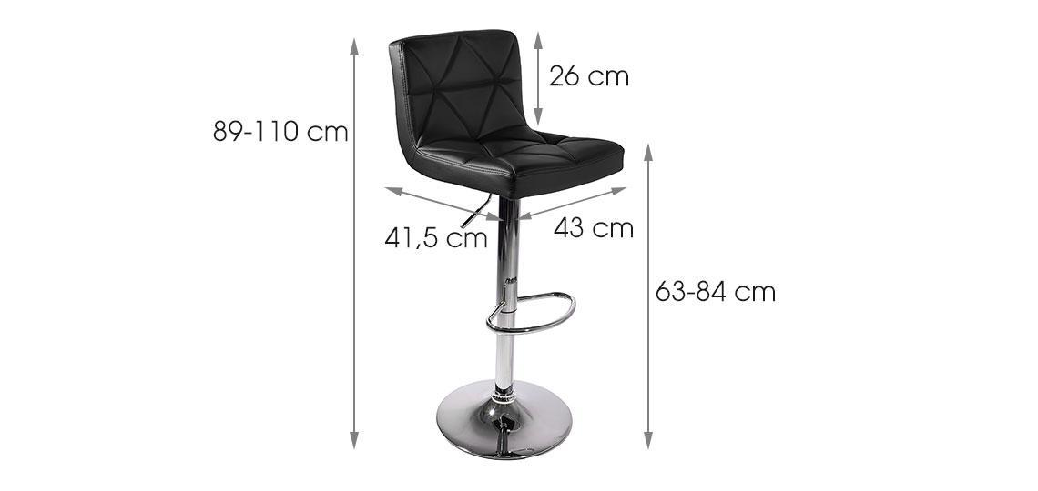 Барные стулья  MONI 2 шт черные