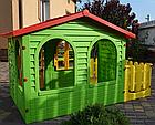 Детский садовый домик Mochtoys 190×127×118 см зеленый с забором, фото 2