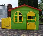 Детский садовый домик Mochtoys 190×127×118 см зеленый с забором, фото 3
