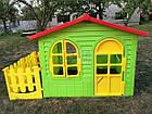 Детский садовый домик Mochtoys 190×127×118 см зеленый с забором, фото 5