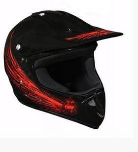 Мотошлем Cross Enduro красный с черным Черный с красным