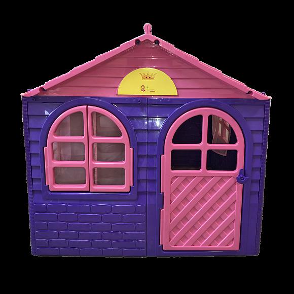Домик-коттедж Doloni-Toys 256×129×120 см со шторками фиолетовый