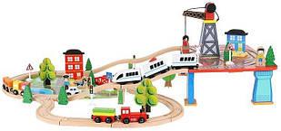 Железная дорога деревянная Kruzzel 9363