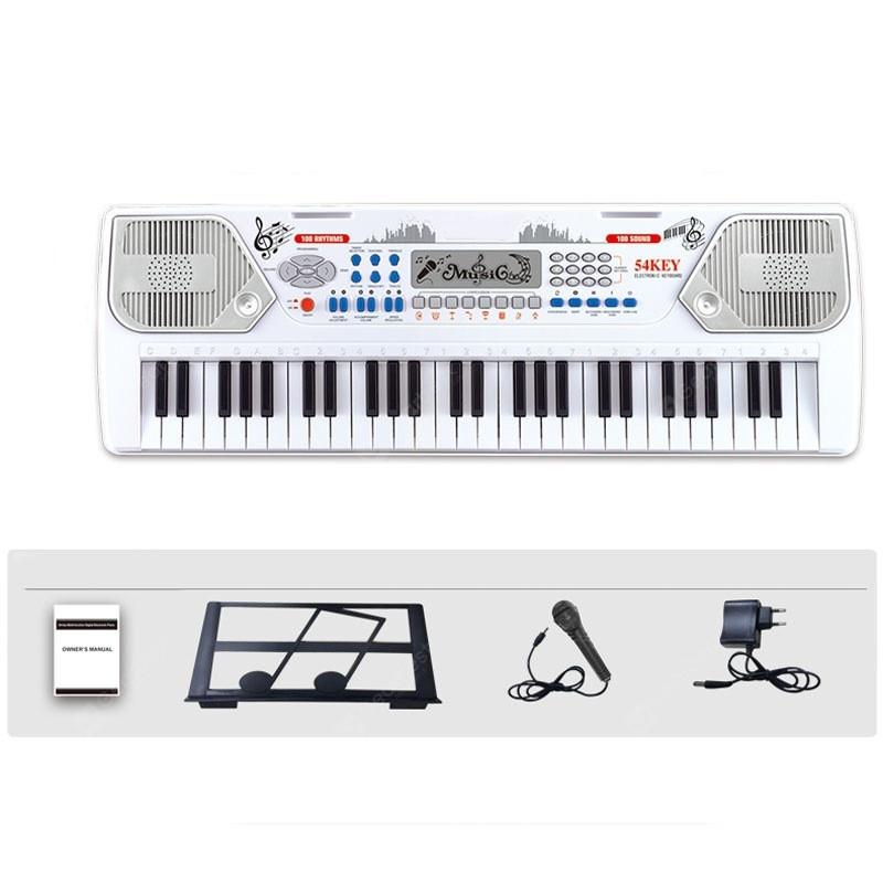 Детский синтезатор Electronic Keyboard 8238 с микрофоном и держателем для нот