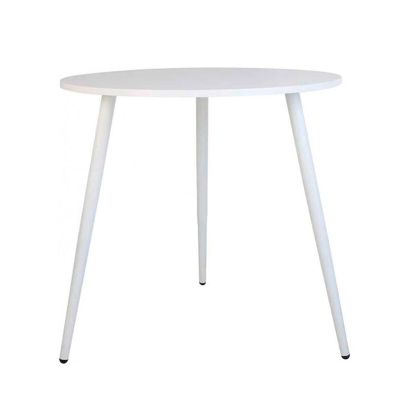 Круглый стол обеденный MUF-ART D800 80 см белый