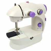Швейна машинка міні портативна Mini Sewing Machine FHSM-202 з адаптером і педаллю