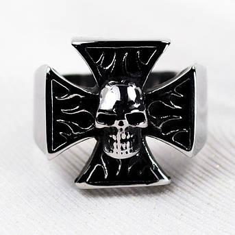 Перстень APST-08 Крест с черепом, фото 2