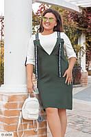 Платье-обманка большого размера, размеры 50-52, 54-56, 58-60, 62-64