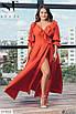 Летнее длинное женское платье на запах, размеры 48-52, 54-58, 60-64, фото 9