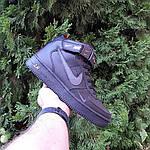 Женские зимние кроссовки Nike Air Force 1 Mid LV8 (черно-оранжевые) 3549, фото 2