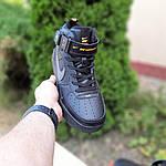 Женские зимние кроссовки Nike Air Force 1 Mid LV8 (черно-оранжевые) 3549, фото 5
