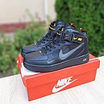 Женские зимние кроссовки Nike Air Force 1 Mid LV8 (черно-оранжевые) 3549, фото 7