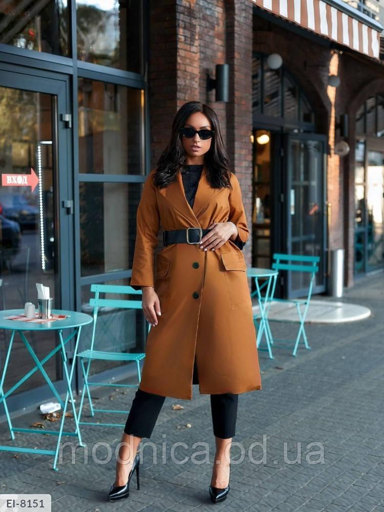 Жіноче весняне пальто великого розміру, розміри 48-52, 54-58