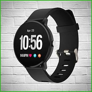Умные часы фитнес-браслет с измерением пульса и давления Smart Life v11 Black