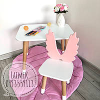 Детский столик и стульчик Ангел (детский стульчик, детская мебель,стульчик ангел)