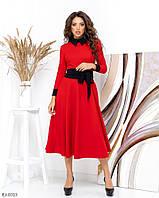 Летнее женское платье длины миди с длинными рукавами, размеры S, M, L, XL