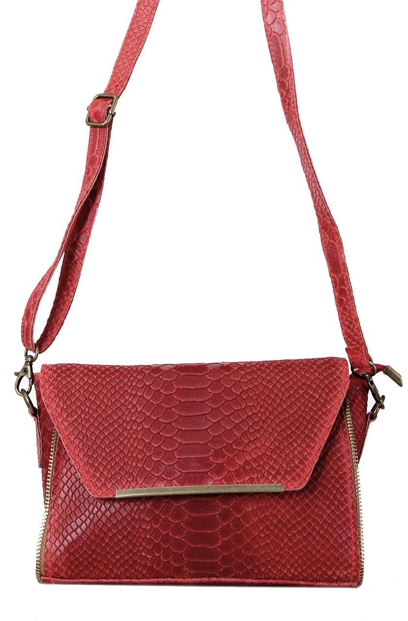 Жіноча шкіряна сумка NITA diva's Bag колір червоний