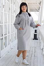 Женское полубатальное трикотажное платье, в расцветках, р.48-54, фото 2