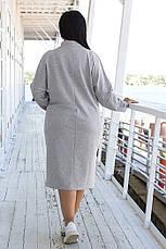 Женское полубатальное трикотажное платье, в расцветках, р.48-54, фото 3