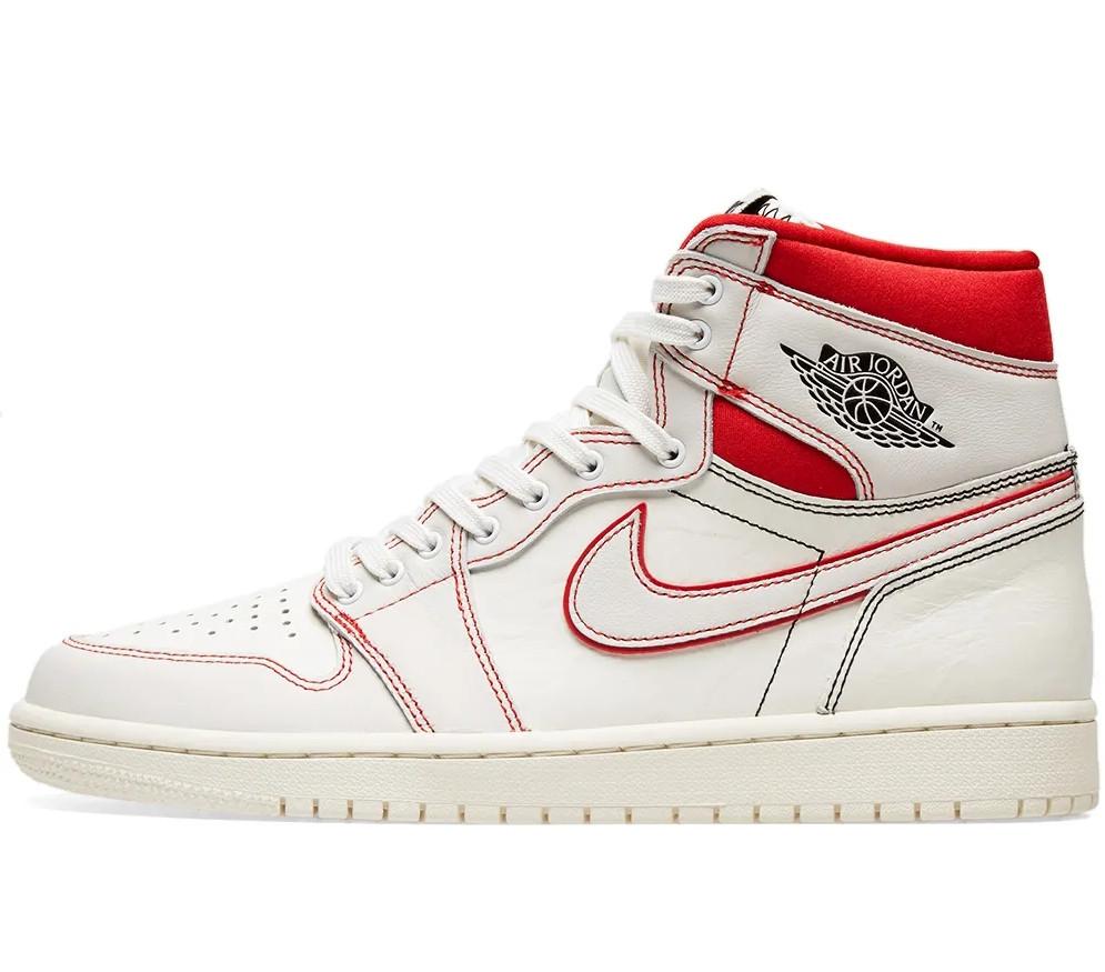 """Кросівки Nike Air Jordan 1 """"Білі Червоні"""""""