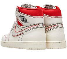 """Кросівки Nike Air Jordan 1 """"Білі Червоні"""", фото 3"""