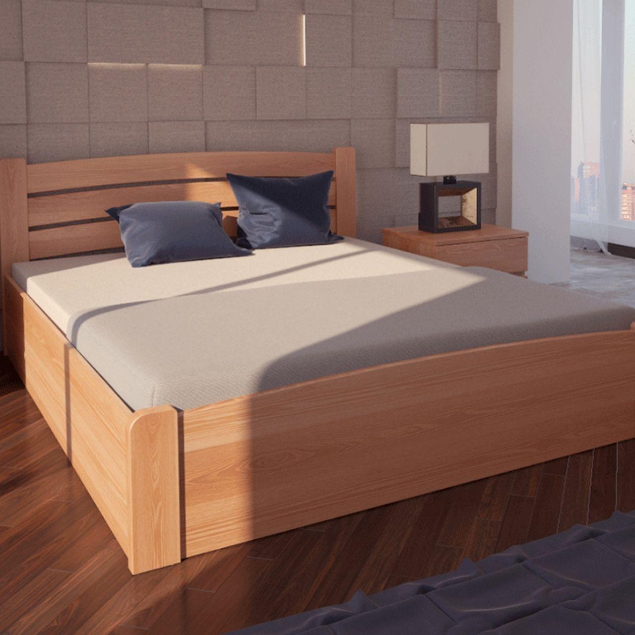 Ліжко дерев'яне Сідней з підйомним механізмом односпальне масив ясеня