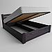 Ліжко дерев'яне Сідней з підйомним механізмом односпальне масив ясеня, фото 2