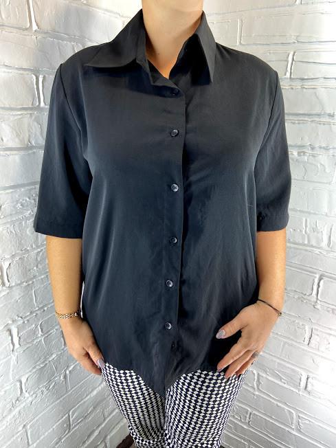 Блуза женская черная 38-44