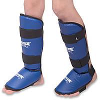 Защита для голени и стопы кожвинил BOXER синие, фото 1