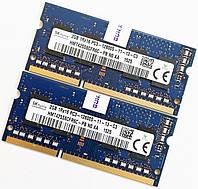 Пара оперативной памяти для ноутбука Hynix DDR3 4Gb (2*2Gb) 1600MHz 12800s CL11 (HMT425S6CFR6C-PB N0 AA) Б/У, фото 1
