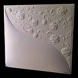 """Пластикова форма для виготовлення 3d панелей """"Троянди"""" 40*40, фото 5"""