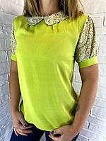 Блуза женская зеленая 36