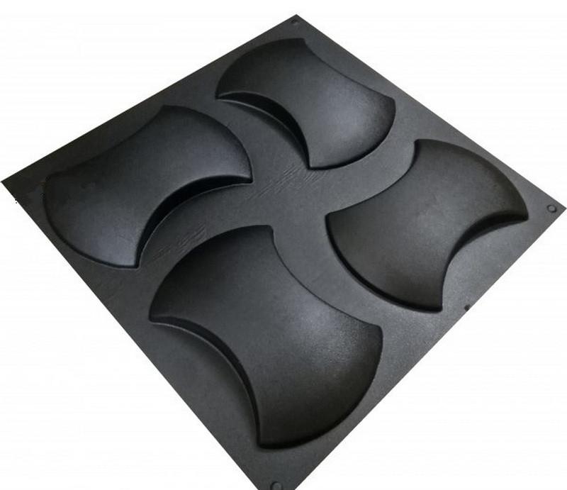"""Форма для 3Д панелей Pixus 3D""""Soft"""" 25 x 17 x 3 см, 4шт"""