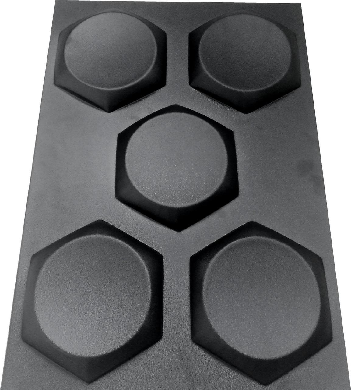 """Пластикова форма для виготовлення 3d панелей """"Шестигранники"""" 17*17"""