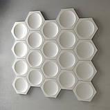 """Пластиковая форма для изготовления 3d панелей """"Шестигранники"""" 17*17, фото 6"""