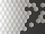 """Пластиковая форма для изготовления 3d панелей """"Шестигранники"""" 17*17, фото 9"""