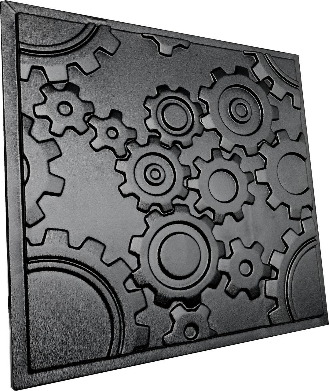 """Пластикова форма для виготовлення 3d панелей """"Механіка"""" 50*50 см"""
