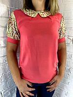 Блуза женская коралловая 36,38