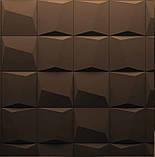 """Пластикова форма для виготовлення 3d панелей """"Квадрати"""" 20*20, фото 2"""
