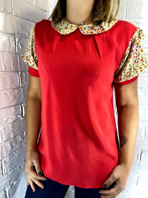 Блуза жіноча червона